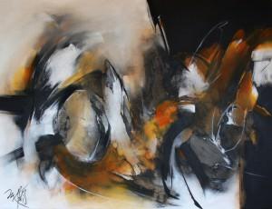 2015 acrylique (05) Réminiscence - 89 x 116 cm